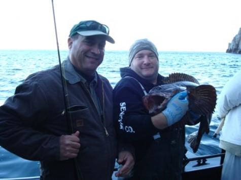 Here lingcod for Seward alaska fishing